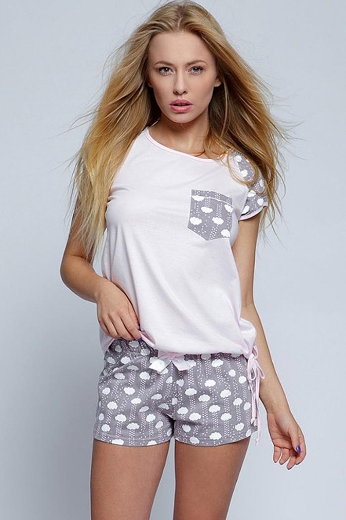 1d612fe2792d8b Młodzieżowa piżamka dla dziewczyny bawełniana różowa rozmiar S, M, L ...
