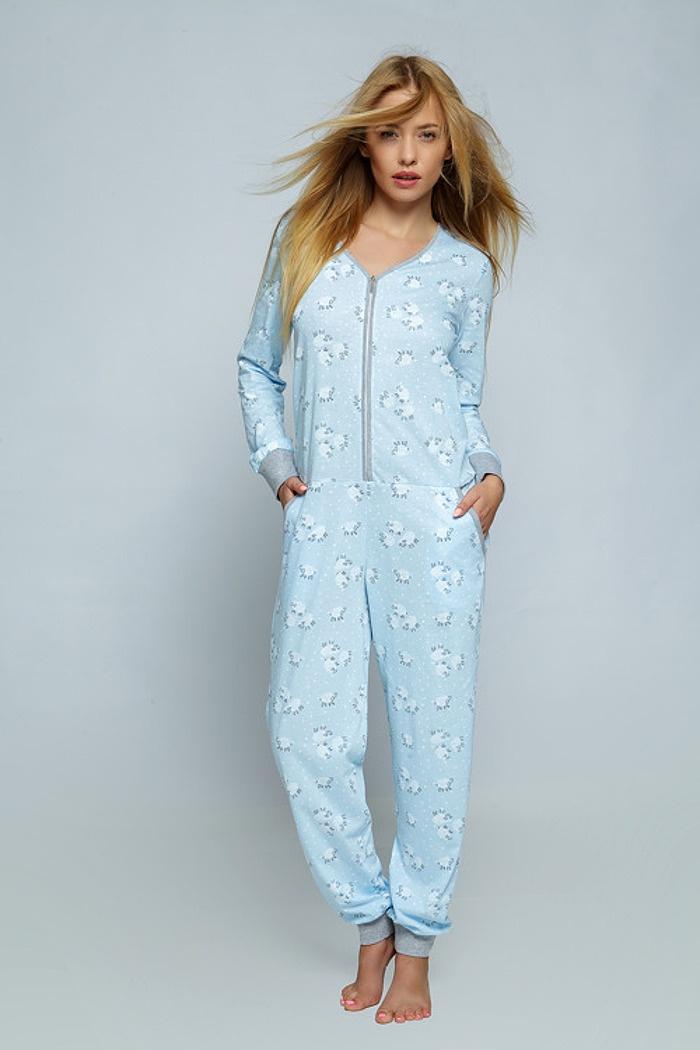 f7bbf9abb80b96 Kombinezon mlodziezowy niebieski. Ciepłe i wygodne piżamy z bawełny ...