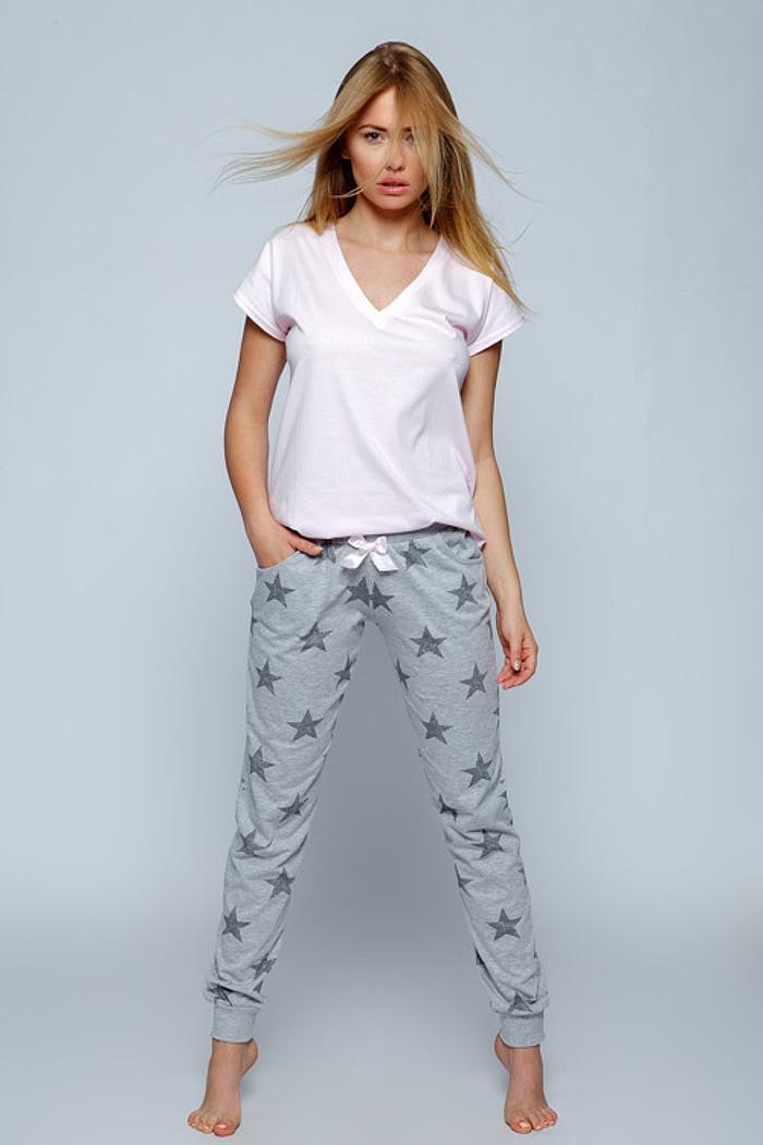 bc80c917c52ee8 Piżamy damskie z bawełny. Piżamy damskie długie spodnie w rozmiarze ...