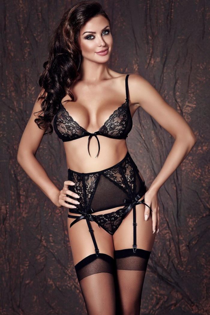 518b79f1c9f608 Bielizna damska czarna, seksowne komplety, biustonosze, figi ...
